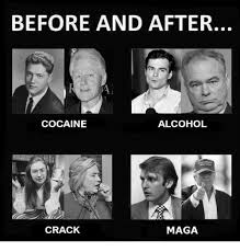 Crack Cocaine Meme - before and after alcohol cocaine crack maga alcohol meme on