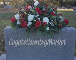 Christmas Decoration For Grave by Headstone Saddle Etsy