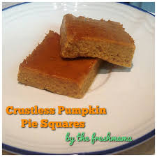 Crustless Pumpkin Pie by Crustless Paleo Pumpkin Pie Squares The Freshmama