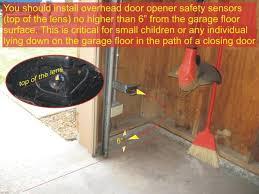 garage door sensors overhead door opener sensor troubleshooting