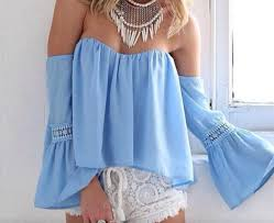 light blue off the shoulder top blouse light blue floaty off the shoulder top wheretoget