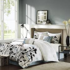 Bedroom Decorating Ideas With White Comforter Bed U0026 Bedding Teal And White Comforter Sets King With Luxury