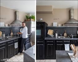 cuisine repeinte en noir photos de cuisine repeinte cuisine cuisine repeinte en beige