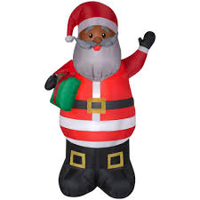 Home Depot Inflatable Christmas Decorations Home Accents Holiday 6 5 Ft Inflatable Airblown African American