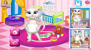 Cleaning Games For Girls Talking Angela Baby Room Pregnant Angela Cat Games For Kids 2015