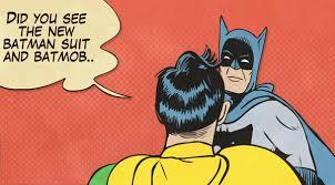 Batman Slapping Robin Meme - batman slapping gif find share on giphy