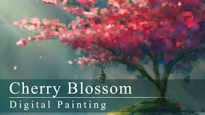 digital painting cherry blossom with annotations youtube