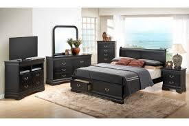 Bedroom Furniture Sets Queen Black Black Bedroom Furniture Set Vivo Furniture