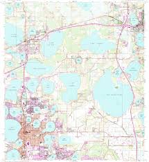 Winter Haven Florida Map by Download Topographic Map In Area Of Winter Haven Haines City