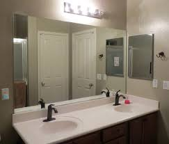 framed bathroom mirror ideas wall mounted white ceramic double
