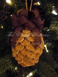 small winecone wine cork pine cone ornament in