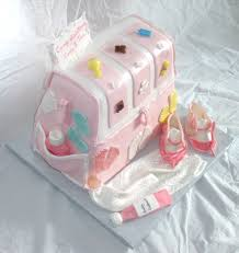 Baby Decorations Baby Diaper Bag Cake For Baby Shower With Edible Gumpaste Baby