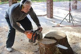 how to make a tree stump table diy tree stump table an ellen show knock off hometalk