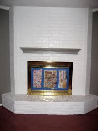 white painted brick fireplace binhminh decoration