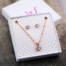 necklace gift images Traditional solitaire necklace earring gift set by j s jewellery jpg