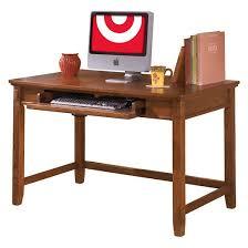 Home Office Small Desk Cross Island Home Office Small Leg Desk Medium Brown Signature