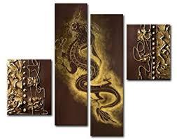 amazon com sangu 100 hand painted wood framed dragon dance