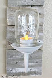 Mason Jar Tea Light Holder Farmhouse Pallet Mason Jar Tea Light Sconce
