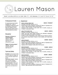 Resume Master Of Science Lauren Mason Resume Template Stand Out Shop