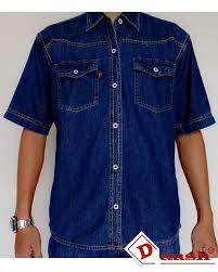 Baju Levis Biru kemeja denim pria lengan pendek levis c kemeja denim by daash id