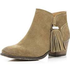 river island womens boots sale river island womens light brown tassel trim ankle boots