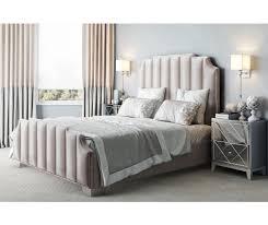Beige Upholstered Bed Natalie Beige Linen King Upholstered Bed Tov L6135 Tov Furniture