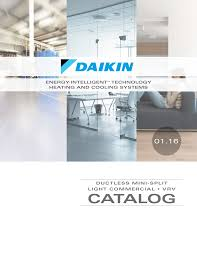 includes daikin ductless mini splits light commercial and vrv systems