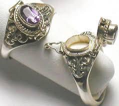 buy rings silver images Sterling silver amethyst poison ring apr 6 buy indian waresbuy jpg