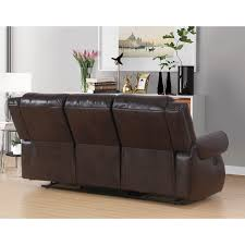 abbyson living bradford faux leather reclining sofa abbyson bradford brown faux leather reclining sofa free shipping