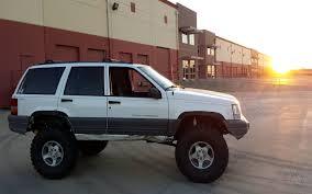 original jeep cherokee jeep grand cherokee 4x4 project zj part 13 cut fenders new springs