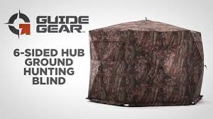 Umbrella Hunting Blinds Guide Gear 6 Sided Hub Ground Hunting Blind 697233 Ground