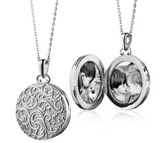 silver photo pendant necklace images Monica rich kosann vintage inspired round locket in sterling