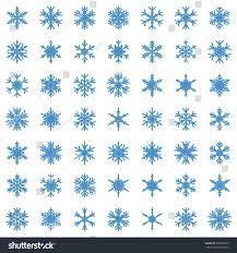 set different winter snowflakes vector illustration stock vector