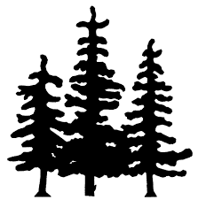 pine tree silhouette drawings rc81 pine trees silhouette designs