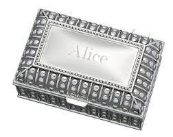 Girls Personalized Jewelry Box Engraved Jewelry Box