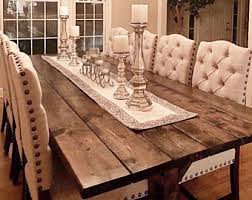 farm table dining room long farm table etsy