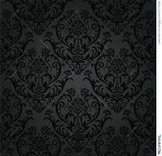 luxury black charcoal floral wallpaper pattern illustration