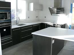 plan de travail cuisine quartz cuisine blanche plan de travail noir et plan travail cuisine en