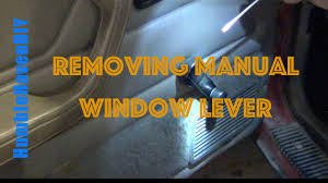 95 jeep cherokee xj removing manual window lever youtube