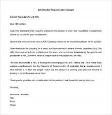 format of request letter to company bunch ideas of exle request letter for transfer of job position