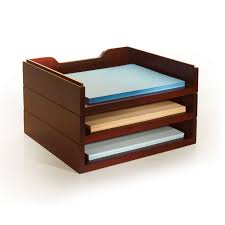 Wood Desk Accessories And Organizers Stack Style Wood Desk Organizers Letter Tray Cherry Hayneedle