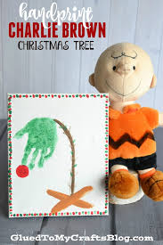Outdoor Christmas Decorations Charlie Brown by Handprint Charlie Brown Christmas Tree Keepsake Charlie Brown