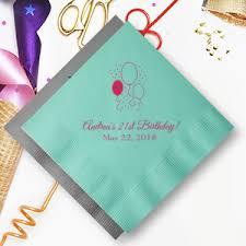personalized birthday napkins 25 pcs personalized napkins