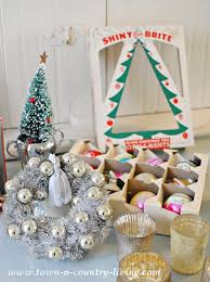 how to display vintage shiny brite ornaments