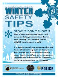 winter safety tips west valley city ut official site