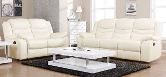 ivory leather reclining sofa contour ivory reclining 3 2 seater leather sofa set