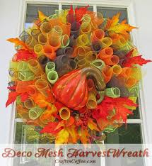 deco mesh ideas 18 fall wreath ideas for your front door homesteading simple