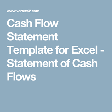 Flow Statement Template Excel Flow Statement Template For Excel Statement Of Flows