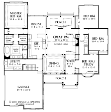 one storey house plans floor plan eplans bungalow house plan craftsman single open