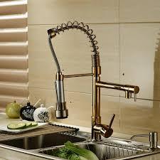 alluring gold kohler kitchen faucets design with spiral home